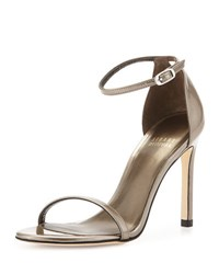 Stuart Weitzman Nudistsong Patent Leather Sandal Gray