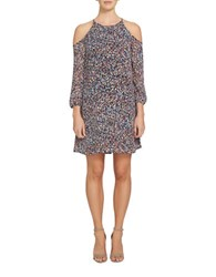 1.State Printed Halterneck Dress Black
