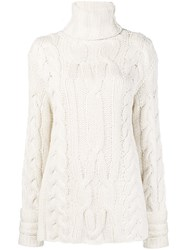 Michel Klein Chunky Knit Jumper White