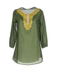 Le Ragazze Di St. Barth Blouses Military Green
