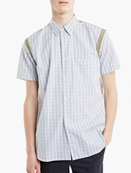 Comme Des Garcons White Checked Short Sleeved Shirt Multi