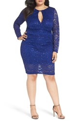 Marina Plus Size Women's Keyhole Lace Sheath Dress