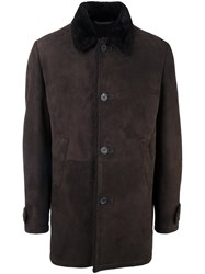 Desa 1972 Shearling Coat Brown