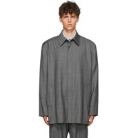 Balenciaga Grey Check Tailored Jacket