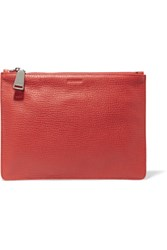 Jil Sander Textured Leather Clutch One Size