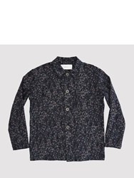 Julien David Stretch Gobelin Indigo Work Jacket Black