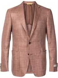 Canali Smart Blazer Orange
