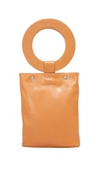 One By Modern Weaving Circle Handle Tote Caramel