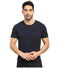 7 For All Mankind Short Sleeve Raw Pocket Crew Navy Men's Clothing