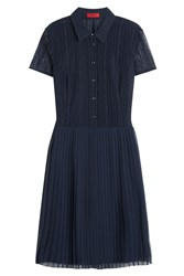 Hugo Shirt Dress With Pleated Skirt Gr. 32