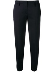 Aspesi Tailored Cropped Trousers Blue