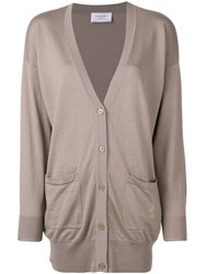 Snobby Sheep Slouched Long Sleeve Cardigan Neutrals