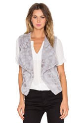 Bb Dakota Darko Faux Fur Vest Gray