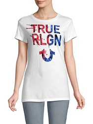 True Religion Painted Cotton Tee White