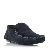 Howick Basel Plain Front Driver Shoes Navy