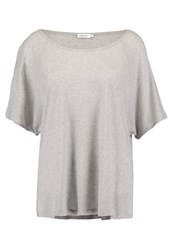 Filippa K Basic Tshirt White Grey Melange Light Grey