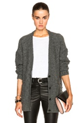 Mason By Michelle Mason Pearl Cardigan In Gray