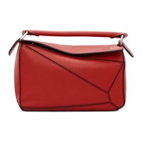 Loewe Red Small Puzzle Bag