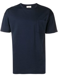 Ma'ry'ya Front Pocket T Shirt Blue