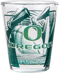 Hunter Manufacturing Oregon Ducks 3D Wrap Shot Glass