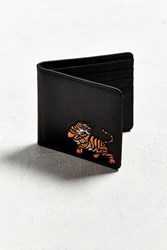 Urban Outfitters Uo Embroidered Bi Fold Wallet Black
