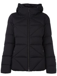 Fay Quilted Zipped Jacket Black