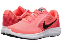 Nike Revolution 3 Hot Punch Black Aluminum White Women's Running Shoes Pink