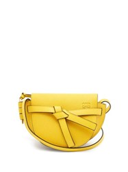 Loewe Gate Mini Grained Leather Cross Body Bag Yellow