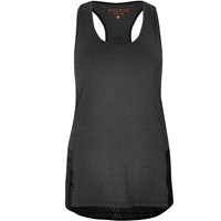 River Island Womens Ri Active Grey Mesh Sports Top