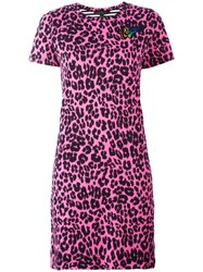 Marc Jacobs Printed Patchwork T Shirt Dress Pink Purple