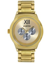 Unlisted Men's Gold Tone Bracelet Watch 45Mm Ul1269 Only At Macy's