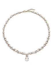Adriana Orsini Cubic Zirconia Pearl Drop Pendant Necklace Gold Clear