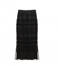 Valentino Tulle And Lace Midi Skirt Black