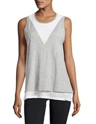 Marc New York Open Back Mesh Tank Top Heather Grey