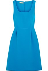 Michael Kors Collection Crepe Mini Dress Blue
