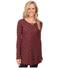 Aventura Clothing Bexley Tunic Burnt Russet Smoked Pearl Women's Long Sleeve Pullover Brown