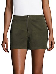 J Brand Solid Suede Shorts Hunter Camo