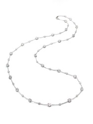 Adriana Orsini Stationed Bezel Set Necklace Clear