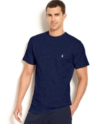 Polo Ralph Lauren Waffle Knit Thermal Crew Neck T Shirt Cruise Navy