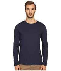 Vince Cotton Modal Mix Stitch Long Sleeve Crew Heather Coastal Coastal