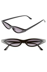 Leith 55Mm Extreme Wide Cat Eye Sunglasses Black