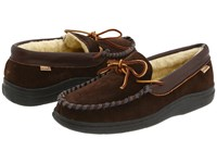 L.B. Evans Atlin Chocolate Suede W Sherpa Lining Slippers Brown