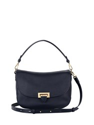 Aspinal Of London Letterbox Slouchy Saddle Bag Blue