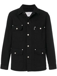 Ami Alexandre Mattiussi Worker Denim Jacket Black