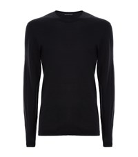 James Perse Long Sleeve Cotton T Shirt Male Navy