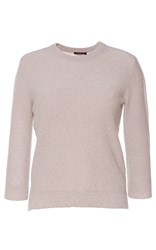 Agnona Crew Neck Cropped Sweater Brown