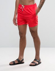 Oiler And Boiler Tuckernuck Mid Length Swim Shorts In Red Red