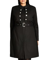City Chic Liaison Trench Coat Black