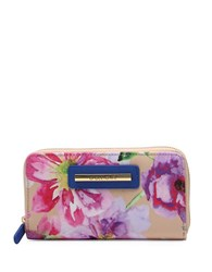 Braccialini Cristina Floral Zip Around Wallet Multicolor