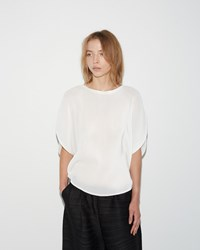 Pleats Please Mist Circle Top White